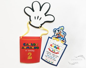 Mickey Mouse, Clubhouse Balloon Invitations