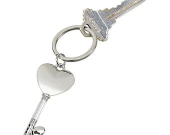 Key to my Heart Key Chain - Personalized Heart Key Chain