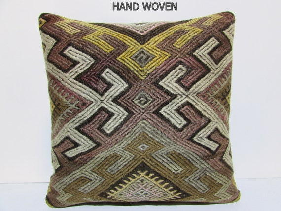 24x24 kilim pillow 24x24 turkish cushion by DECOLICKILIMPILLOWS