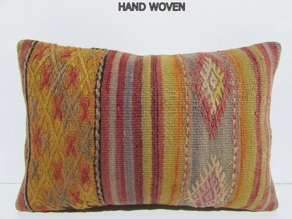 Oversized Decorative Pillow : 16x24 throw pillow lumbar oversized cushion by DECOLICKILIMPILLOWS