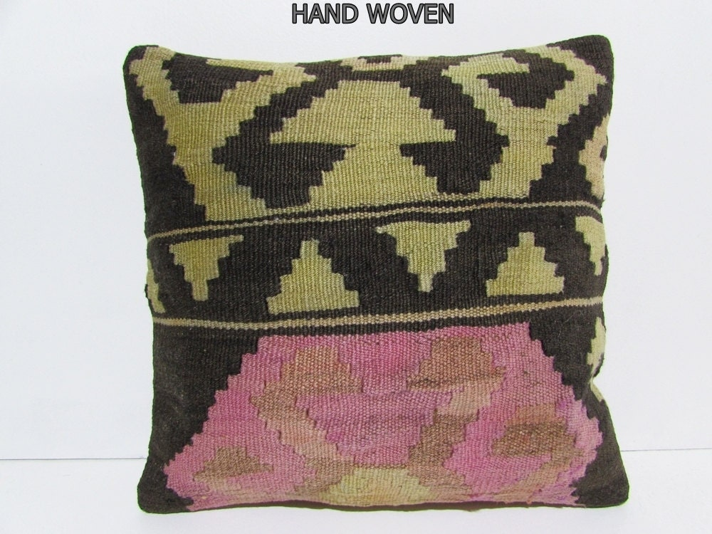 Modern Kilim Pillows : kilim pillow 18x18 modern pillow case urban fabric throw