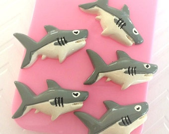 36mm Shark Resin Cabochon 5 pcs