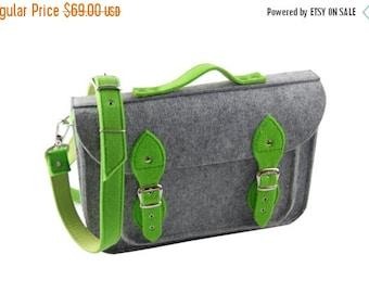 Winter Sale 40% Laptop bag 15 inch with pocket, vegan bag. felt satchel, Macbook Pro 15 in, Custom size Laptop bag, sleeve, case