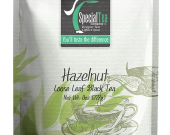 8 oz. Hazelnut Loose Black Tea with Free Tea Infuser
