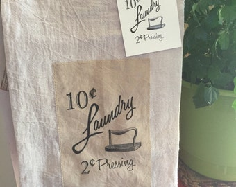 Laundry 100% cotton floursack tea towel