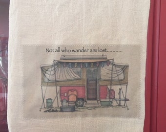 Tent trailer floursack tea towel