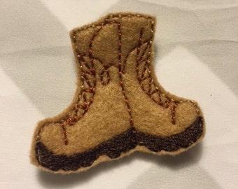 UNCUT combat boots feltie