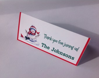 Christmas place cards Set of 12