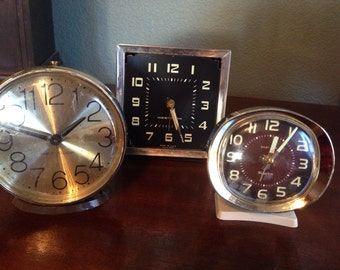 Vintage Westclox Alarm Clocks