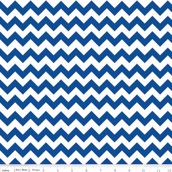 SALE - Royal Blue FLANNEL Small Chevron Fabric by Riley Blake ...