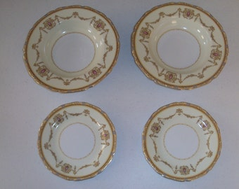 Noritake Valdina 2 Bread And Butter Plates & 2 Soup Bowls