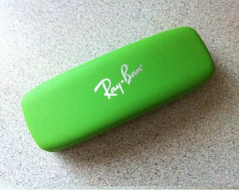 Ray Ban Light Green Faux Leather Hard Eyeglasses Sunglasses Glasses Case