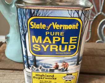 Retro Vermont Tin Canister