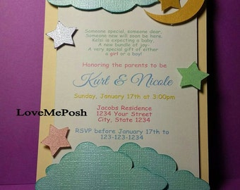 10 Pieces Baby Shower GIRL And Boy Invites