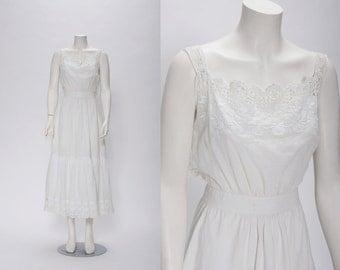 white edwardian cotton dress vintage 1900s • Revival Vintage Boutique