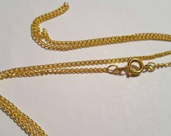 5 Gold Plated Ring Chain & Hook Clasp C460M