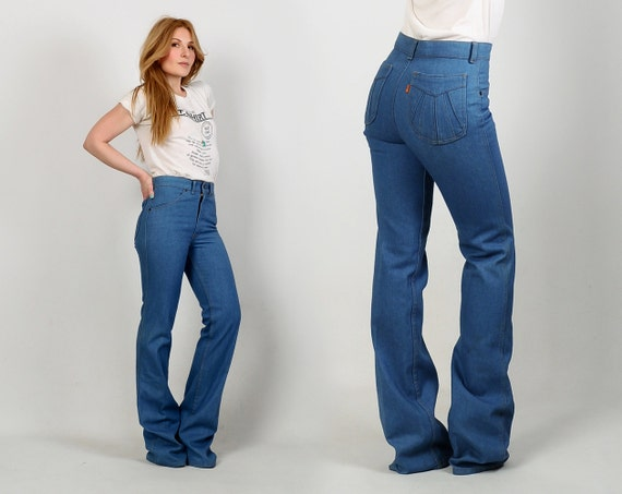 vintage 70s LEVI's High Waisted Bell Bottoms S jeans high