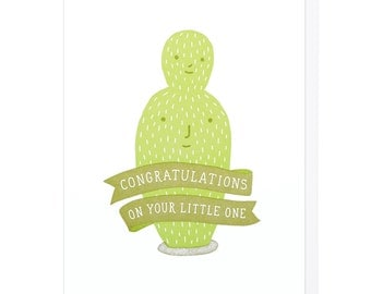 Congratulations on Your Little One Letterpress Card