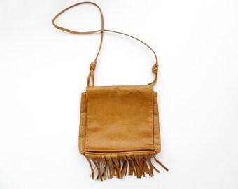 Vintage Purse // 80's Fringed Leather Purse