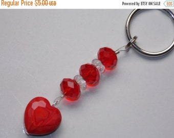 25%OFF Red Heart Keychain