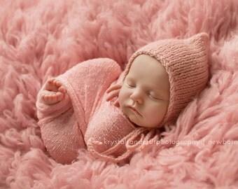 Knitting Pattern, Newborn Bonnet Pattern, SIMPLE PIXIE BONNET, Photography Prop, Newborn Prop, Lily B's