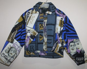 Vintage Versace Jeans Couture Film Poster Jacket Italy