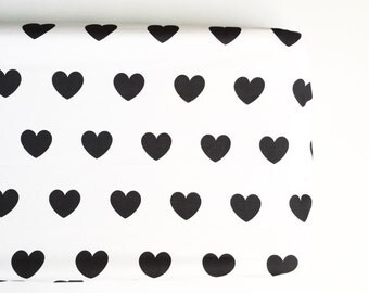 Changing Pad Cover in Black Hearts. Change Pad. Changing Pad. Minky Changing Pad Cover. Black Changing Pad Cover.