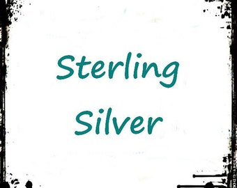 Sterling Silver Hooks, Upgrade Earrings, Silver Hooks for Earrings, Exchange Closure on Sterling Silver