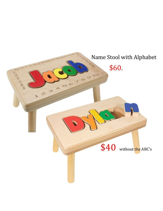 Name Stool With Alphabet By Timsuniqueproducts On Etsy
