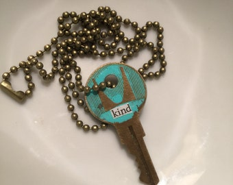 "Kind ""Truth Key"" Necklace"