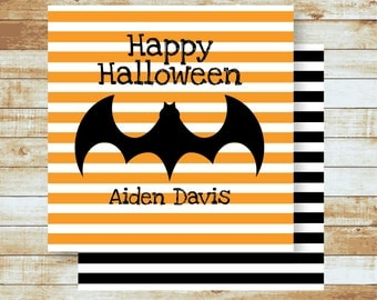 Personalized Gift Tags / Kids / Halloween / Bat