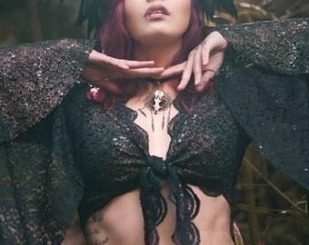 Sale! Tribal bolero temple dance gypsy jacket  goddess bellydance priestess tribal fusion