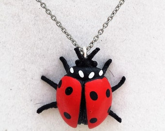 Ladybug Pendant - Ladybug Necklace - Ladybird Necklace - Ladybug Charm - Insect Jewelry - Insect Necklace - Lady Bug Necklace - Ladybug Toy