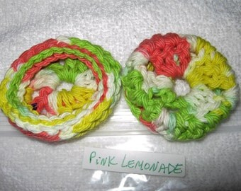 PINK LEMONADE Ear Pads/Cushions/Cookies for Phone Headset, Call Center, Hand-made, NEW.