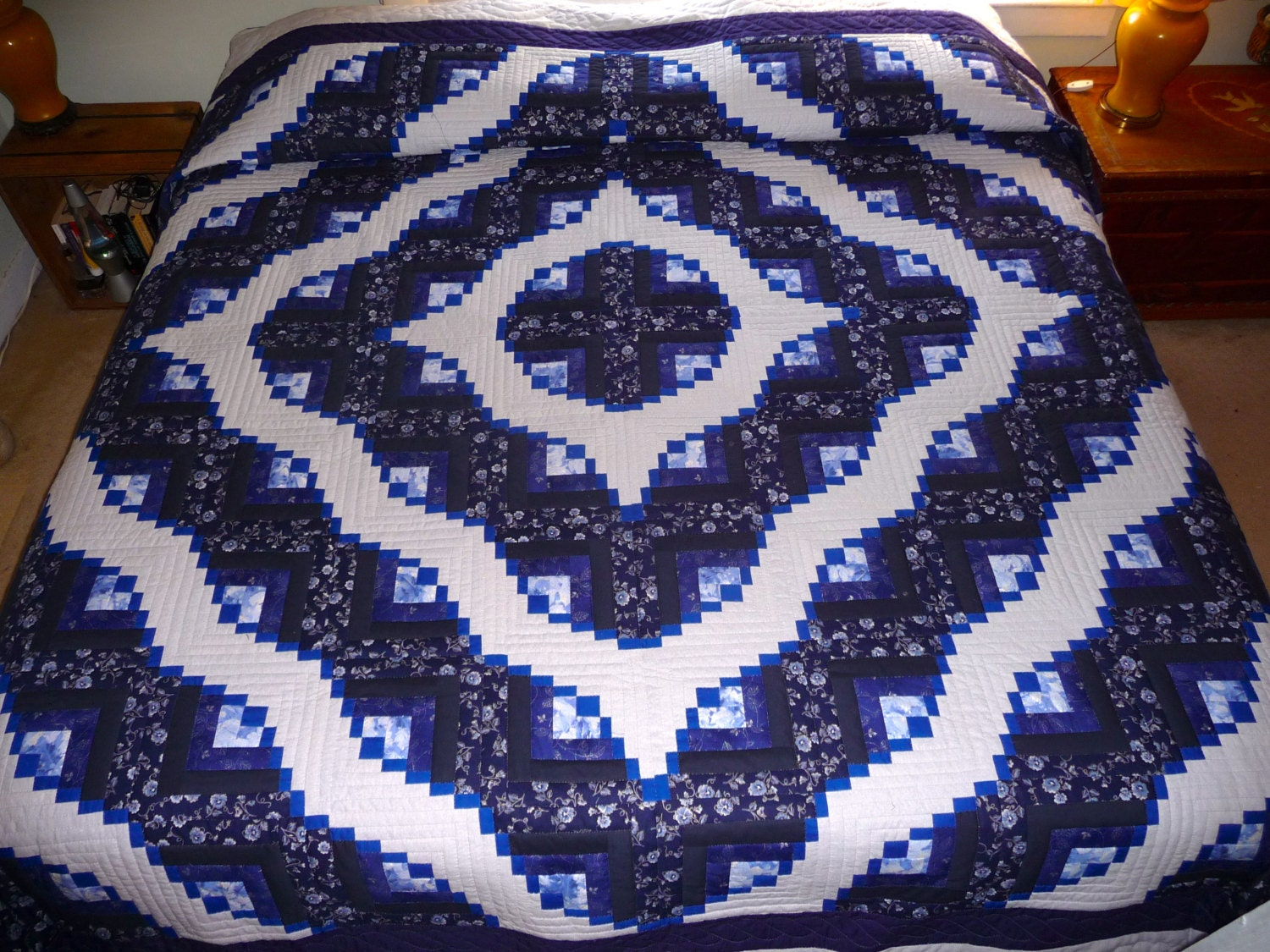 Eureka Log Cabin Amish Quilt