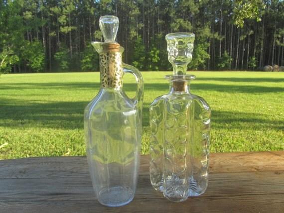 Liquor decanter wedding decorvintage bottledecanter vase for Liquor bottle vases