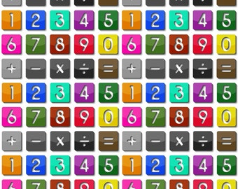 Huge set of Numbers and Arithmetic Operators - Instant Download to Print