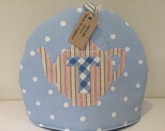 Tea Cosy - Clarke and Clarke spot with teapot motif