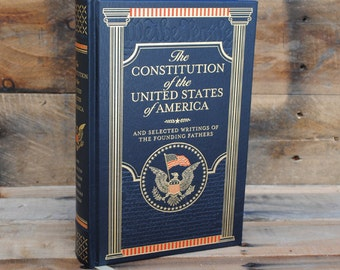 Book Safe - Constitution of the United States of America - Leather Bound Hollow Book Safe