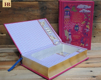 Hollow Book Safe - Fairy Tales From Around The World - Leather Bound