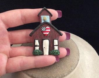 Vintage School House Pin