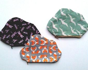 Choose fabric : Small Cloud Zip Purse