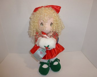 Precious Moments Doll 1991 Christmas Edition Applause 14""