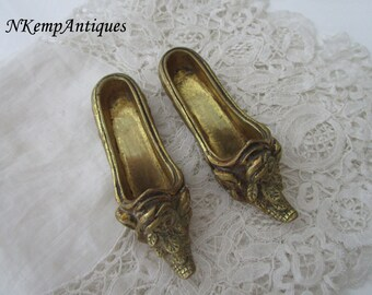 Antique french shoes match holders