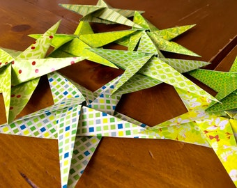 5-pointed origami stars (8 pcs)
