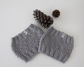 Textured Knit Boot Cuffs