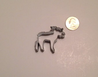 """1.75"""" Mini Moose Cookie Cutter"""