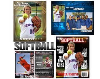 Softball - Baseball Custom Templates