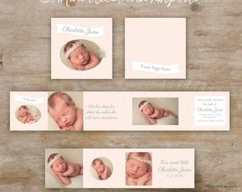 Accordion Mini Album Template - 3x3 mini accordion template