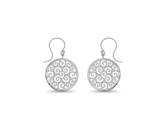 65% OFF SALE - Sterling Silver Circle Earrings